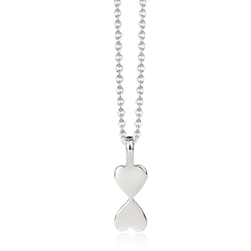 HEART TO HEART NECKLACE - SILVER