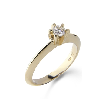 LOVELIEST SOLITAIRE RING  14K GULD 0,25 CT. DIAMANT