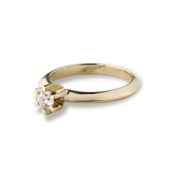 LOVELIEST SOLITAIRE 14K GULDRING  0,15 CT. DIAMANT