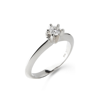 LOVELIEST SOLITAIRE RING HVIDGULD 0,25 CT. DIAMANT