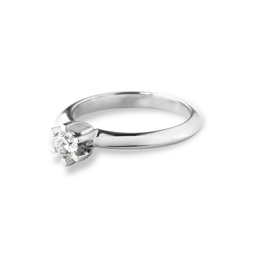 LOVELIEST SOLITAIRE RING HVIDGULD 0,15 CT. DIAMANT