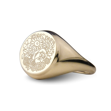 Flower Tales Signet Ring