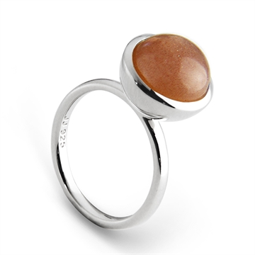 Graceful Large Cabochon Ring