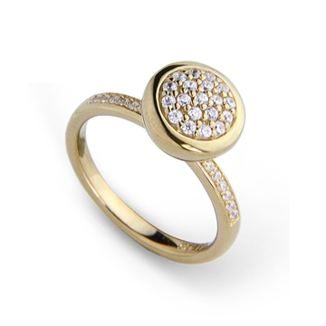 Graceful CZ Ring