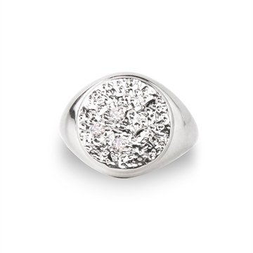 Piece of the Moon Signet Ring