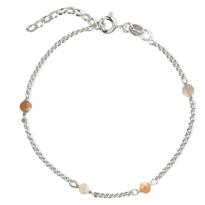 Love Eye - Nude Moonstone Armbånd